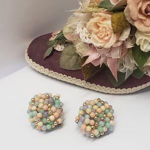 Unique Vintage Beaded Statement Earrings